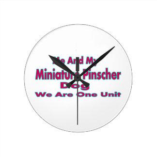 Me And My Miniature Pinscher Dog Round Wall Clock