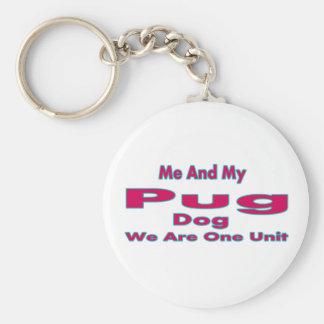 Me And My Pug Dog Keychains