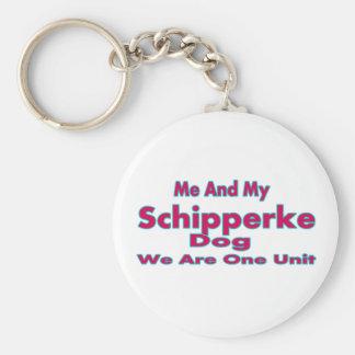 Me And My Schipperke Dog Keychains
