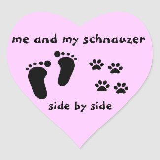 Me and My Schnauzer sticker