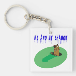 Me And My Shadow 2 Single-Sided Square Acrylic Keychain