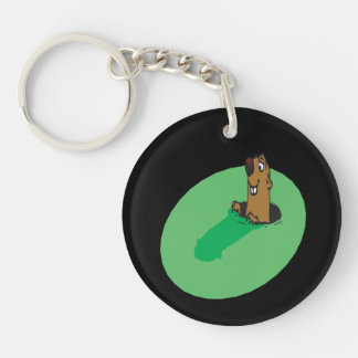 Me And My Shadow Double-Sided Round Acrylic Keychain