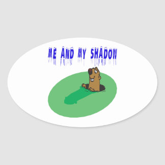 Me And My Shadow Oval Sticker