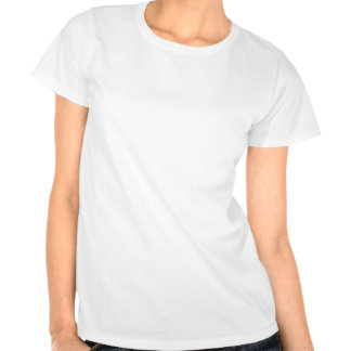 Me and my shadow round neck white ladies t-shirt