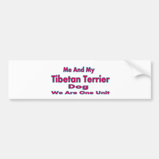 Me And My Tibetan Terrier Dog Bumper Stickers