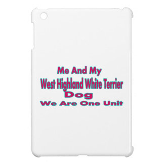 Me And My West Highland White Terrier Dog iPad Mini Cover