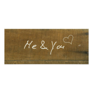Me and You Equals Love Vintage Inspired Wood Sign Poster