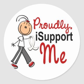Me apoyo mi SFT (cáncer del hueso/de pulmón) YO Pegatina Redonda