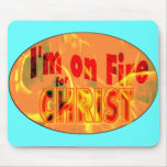 Me ardo para CRISTO Alfombrillas De Raton