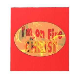 Me ardo para CRISTO Blocs De Notas
