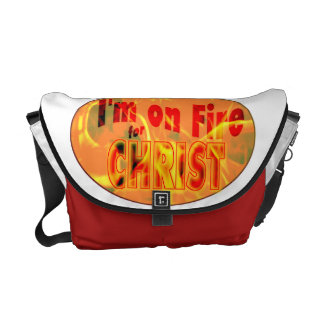 Me ardo para CRISTO Bolsa Messenger