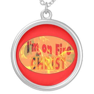 Me ardo para CRISTO Collares Personalizados