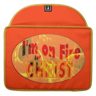 Me ardo para CRISTO Fundas Para Macbook Pro