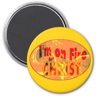 Me ardo para CRISTO Imán De Nevera