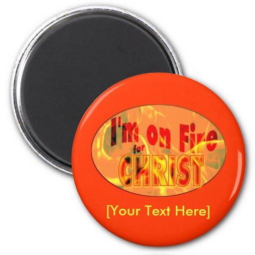Me ardo para CRISTO Imanes Para Frigoríficos