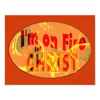"""Me ardo para CRISTO Invitación 4.25"""" X 5.5"""""""
