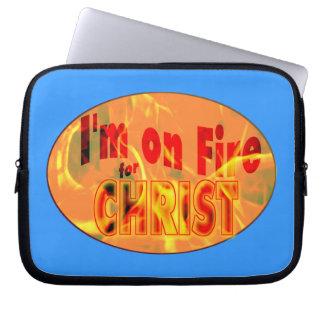 Me ardo para CRISTO Mangas Computadora