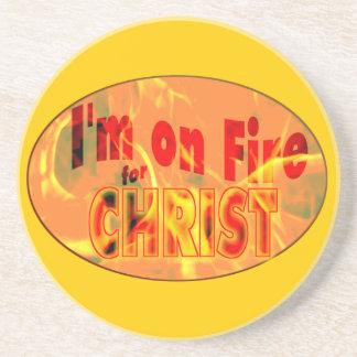 Me ardo para CRISTO Posavasos Personalizados