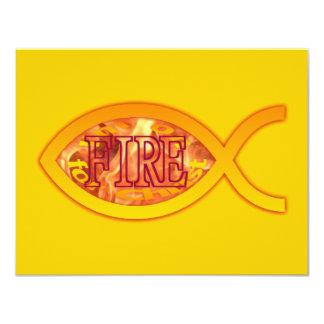 """Me ardo para Cristo - símbolo cristiano de los Invitación 4.25"""" X 5.5"""""""