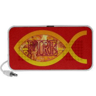 Me ardo para Cristo - símbolo cristiano de los pes iPod Altavoces