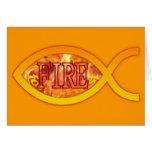Me ardo para Cristo - símbolo cristiano de los Tarjeta De Felicitación