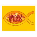 Me ardo para Cristo - símbolo cristiano de los Postales