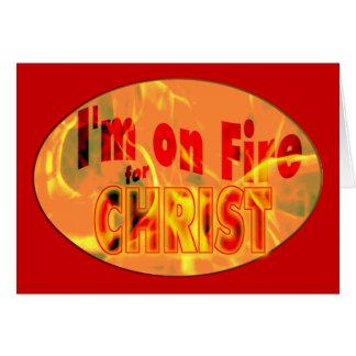 Me ardo para CRISTO Tarjeta