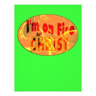 Me ardo para CRISTO Tarjetas Publicitarias