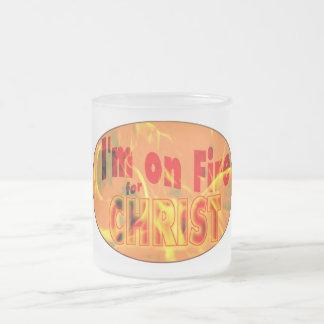 Me ardo para CRISTO Taza De Café