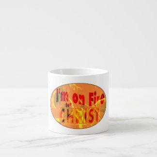 Me ardo para CRISTO Taza Espresso