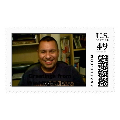 Me at my desk postage stamps