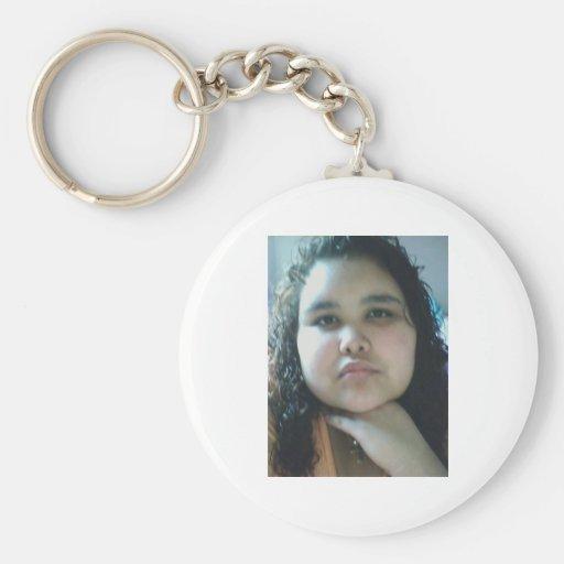 me basic round button keychain