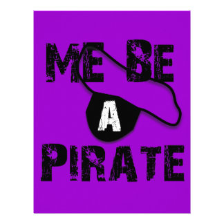 Me Be A Pirate Apparel and Gifts Letterhead