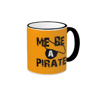 Me Be A Pirate Apparel and Gifts Ringer Coffee Mug