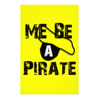 Me Be A Pirate Apparel and Gifts Stationery Paper