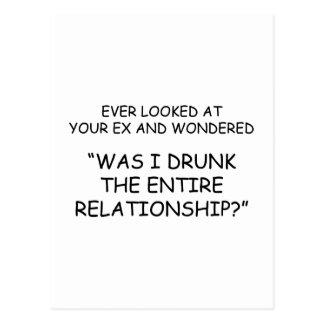 ¿Me bebieron durante la relación entera? Tarjetas Postales