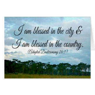 Me bendicen en la ciudad tarjeta de felicitación