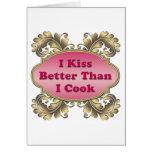 Me beso mejor que cocino tarjeton