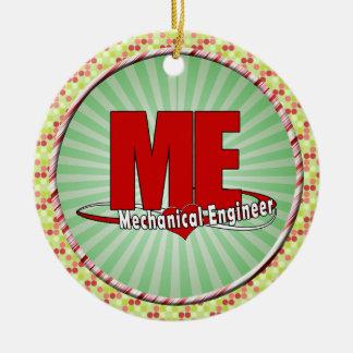 ME BIG RED LOGO MECHANICAL ENGINEER CERAMIC ORNAMENT