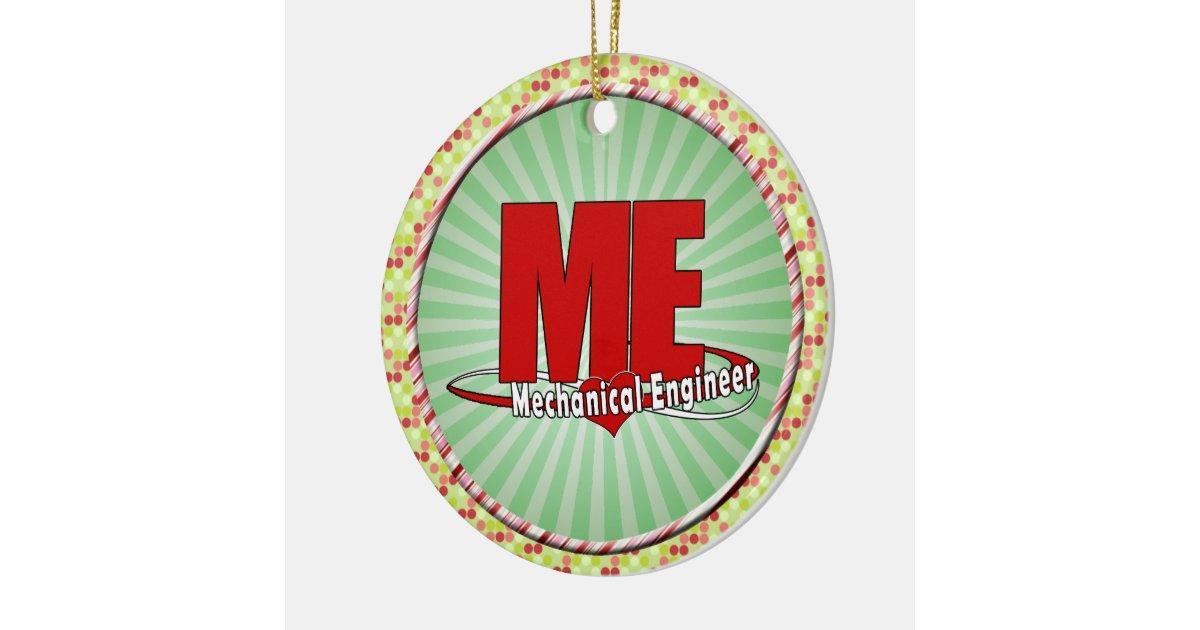 Me big red logo mechanical engineer ceramic ornament zazzle