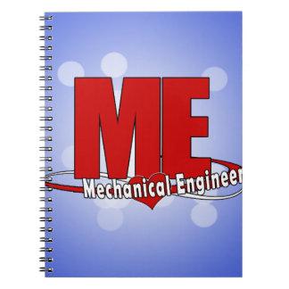 ME BIG RED LOGO MECHANICAL ENGINEER NOTEBOOK