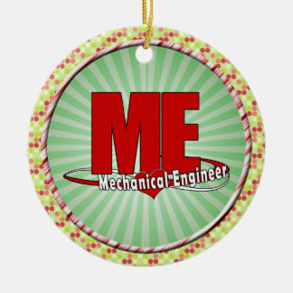 ME BIG RED LOGO MECHANICAL ENGINEER CHRISTMAS TREE ORNAMENTS