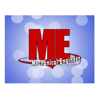 ME BIG RED LOGO MECHANICAL ENGINEER POSTCARD