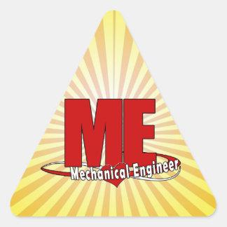 ME BIG RED LOGO MECHANICAL ENGINEER TRIANGLE STICKER