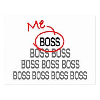 Me Boss Postcard