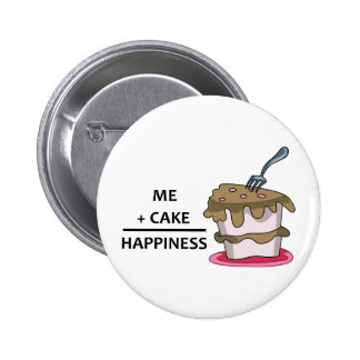 Me+Cake Happiness Pinback Button