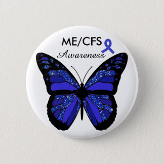 ME/CFS Awareness Butterfly Button