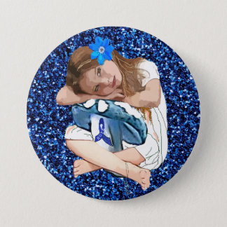 "ME/CFS Awareness ""Girl of Hope"" Button"