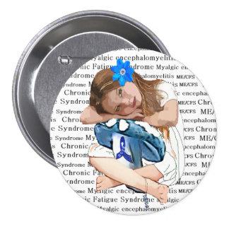 "ME/CFS Awareness ""Girl of Hope"" Pinback Button"