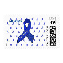 ME/CFS Awareness ribbon, Be Strong Postage Stamp